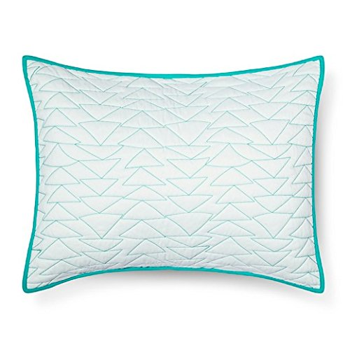- Pillowfort Triangle Stitch Pillow Sham (Standard) Mint 26x 20