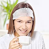 Non-woven Headbands, Amariver 100 Pcs Disposable Elastic Spa Salon Makeup Sauna Non-woven Skin Care Hair Band Headbands, Set of 100