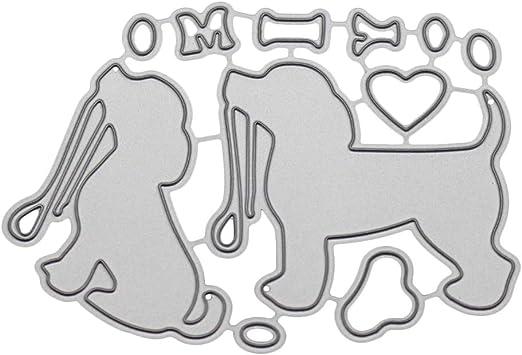 Cute Dog Metal Cutting Dies Stencil Scrapbooking Embossing Paper Card Home Decor