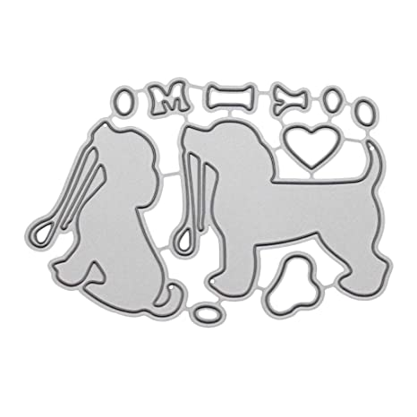 Cheap Price Two Dogs Metal Cutting Dies And Stamps Diy Scrapbooking Album Paper Card Decorative Craft Embossing New 2019 Electronic Components & Supplies
