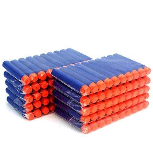 100-pcs-blue-foam-darts-for-nerf-n-strike-elite-series-blasters-toy-gun-refill-pack-by-triple-seven-