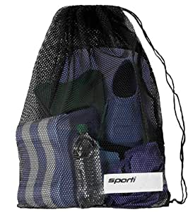 Sporti Mesh Equipment Bag (Black)