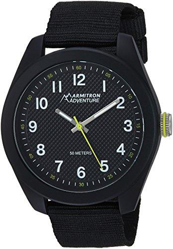 Armitron Adventure Men's AD/1006BKBKBK Easy To Read Dial Black Nylon Strap Watch