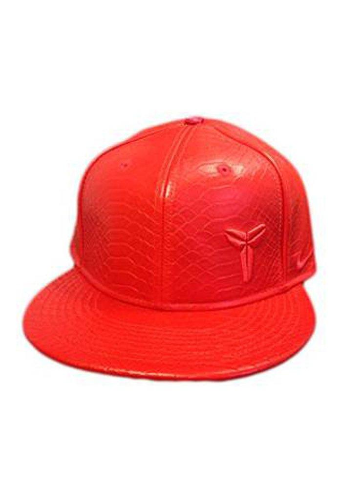 Nike Kobe Leather Snakeskin Mamba Snapback Red 728504-600