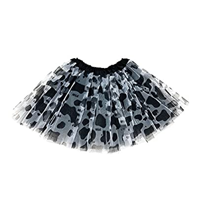 Rush Dance Colorful Kids Girls Ballerina Dress-Up Princess Costume Recital Tutu (One Size, Black Cow): Clothing