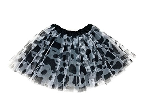 Rush Dance Colorful Kids Girls Ballerina Dress-Up Princess Costume Recital Tutu (One Size, Black Cow)