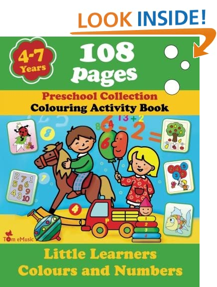 little learners colors and numbers coloring and activity book with puzzles brain games problems mazes dot to dot more for 4 7 years old kids