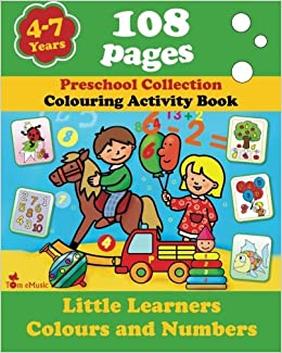 Buy Little Learners - Colors and Numbers: Coloring and Activity ...