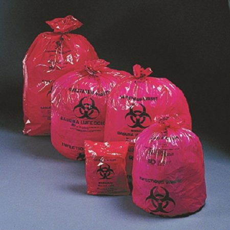 McKesson 03-4400 Medi-Pak Saf-T-Seal Infectious Waste Bag, 24'' Width, 24'' Length, Red, 24'' Width, 24'' Length (Pack of 1000)
