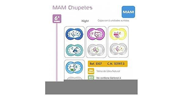 MAM - Chupete Night Látex Mam 2uds 6m+: Amazon.es: Bebé