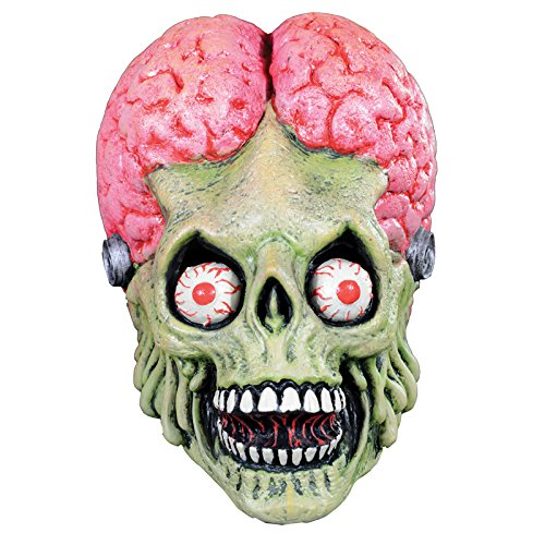 Trick or Treat Studios Men's Mars Attacks-Drone Martian Mask, Multi, One Size - Mars Attacks Costume Halloween