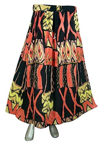 Designer Women Skirt (Womens Rayon Skirt Designer Spring Summer India Clothing (Multicolor5))