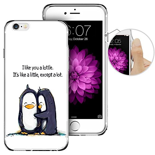 Penguin Silicon Case - iPhone 6 Case, iPhone 6s Case, LAACO Beautiful Clear TPU Case Rubber Silicone Skin Cover for iPhone 6/6S - Cute little penguin