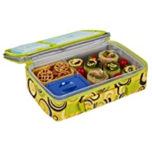 Fit & Fresh Kids Bento Lunch Kit with Insulated Bag and Ice Packs, Sun Swirls
