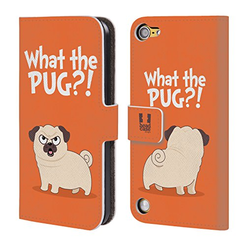 Head Case Designs What Arancione Piper Il Pug Cover a portafoglio in pelle per iPod Touch 5th Gen / 6th Gen