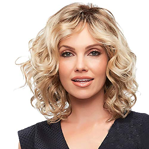 FORUU Wigs, 2019 Valentine's Day Surprise Best Gift For Girlfriend Lover Wife Party Under 5 Free delivery Fashion Synthetic Gold Short Curly Anti-Warping Hair Wig Water Wave Hair -