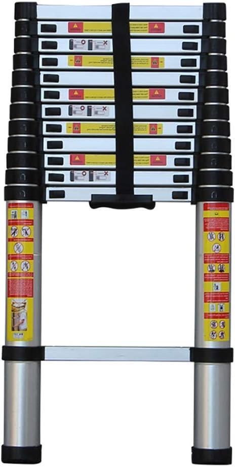 Escalera multifuncion aluminio Las escaleras telescópicas de aluminio con patas antideslizantes, 13 peldaños extiende hasta 16 pies, 330 lb de carga, La escalera telescópica portátil for uso doméstico: Amazon.es: Hogar