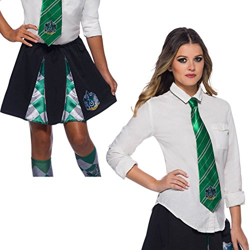Harry Potter Costume Kit, Girls Slytherin Skirt and Tie, One Size ()