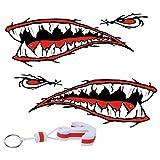 Dovewill 2x Waterproof Shark Teeth Mouth