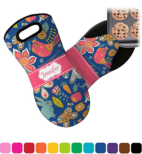 RNK Shops Owl & Hedgehog Neoprene Oven Mitt (Personalized) by RNK Shops