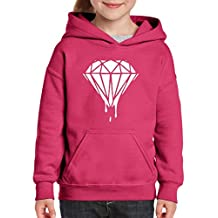Xekia Melting White Diamond Hoodie For Girls and Boys Youth Kids