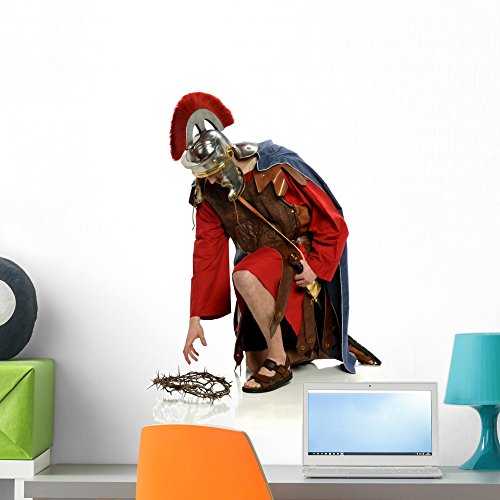 Wallmonkeys Roman Soldier Wall Decal Peel and Stick Graphic (24 in H x 16 in W) -