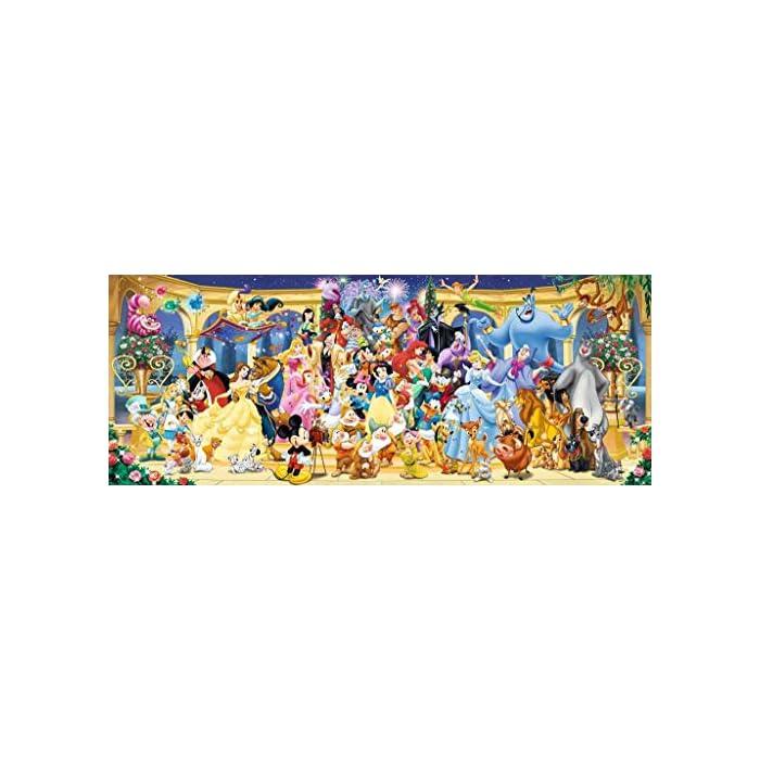 Fotos, paisajes, personajes de fantasía: Ravensburger te ofrece una rica selección de imágenes para tus rompecabezas, elige tu favorita Los personajes del mundo Disney en un puzzle Ravensburger panorama de 1000 piezas para adultos en formato 98 x 37.5 cm Los rompecabezas de Ravensburger desarrollan habilidades de concentración y creatividad, son un pasatiempo optimo para relajarse solo o con amigos y una idea de regalo