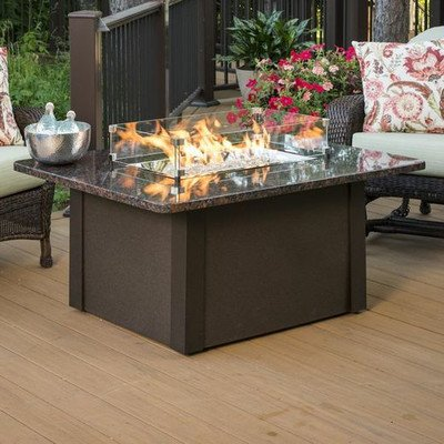 Outdoor Great Room Grandstone Fire Pit Napa Valley, Brown