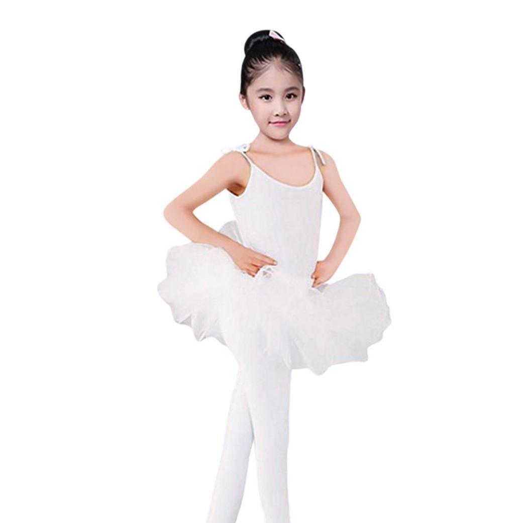 Oyedens Ragazza Leotard Vestito Tutu Balletto Di Tulle Sottoveste Dancewear Body Ginnastica Abbigliamento 2-6 Anni Danza Bambino La Ragazza Body Balletto Tuta Vestito Abiti
