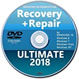 Recovery & Repair CD DVD für Windows 10 & 7 & 8 + Vista + XP Bootfähig✔ Notfall CD✔ Computer Reparatur