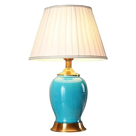 Lámpara de Mesa de luz - Cerámica - Dormitorio Americano de ...
