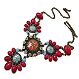 CA Fashion Vintage Flower Jewelry Sweater Chain Necklace Bohemian Style Pendant