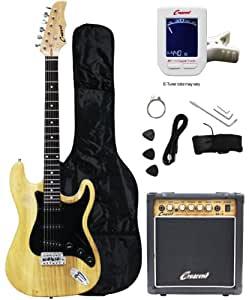 crescent electric guitar starter kit natural color includes amp crescents. Black Bedroom Furniture Sets. Home Design Ideas