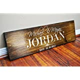 FAST SHIPPING Rustic Anniversary or Wedding gift for Husband-Wife - Wedding Sign- Fifth Wood Anniversary Gift for Men - Women .sign#119