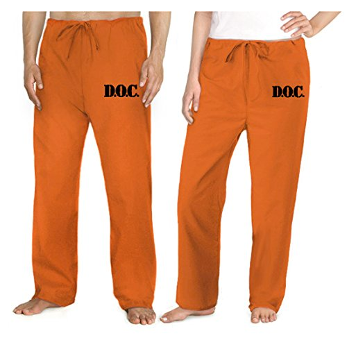 Broad Bay Prison Costume Orange DOC Convict Uniform Prisoner Pants (Clothes Prison)