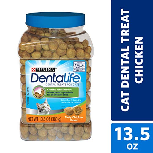 Purina DentaLife Made in USA Facilities Cat Dental Treats, Tasty Chicken Flavor - 13.5 oz. Canister