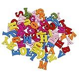 Unicoco Wooden Capital Letter 100Pcs Colorful Alphabet Scrabble Tile DIY Craft Supply Wood Alphabet Letters