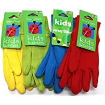 Kid's Gardening Gloves, (4-Pack) - Ages 3+ - Fun Bright Colors - Kids Winter Gloves - 4-Pack will include all 4 Colors.