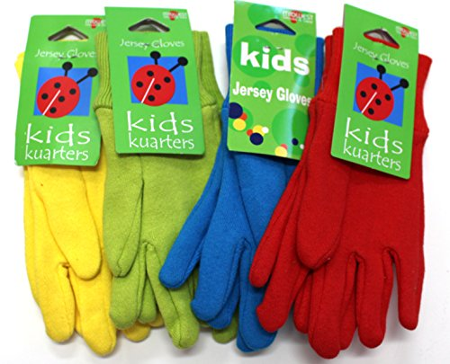 Kid's Gardening Gloves, (4-Pack) - Ages 3+ - Fun Bright Colors - Kids Winter Gloves - 4-Pack will include all 4 - Mar Kids