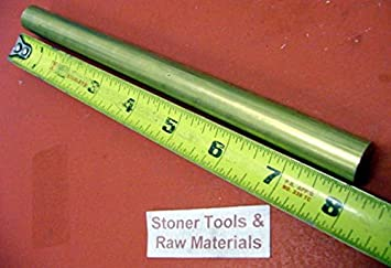 """7//8/"""" C360 BRASS SOLID ROUND ROD 4/"""" long H02 New Lathe Bar Stock .875/"""""""
