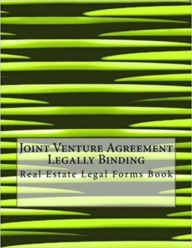 Joint Venture Agreement Legally Binding Real Estate Legal Forms