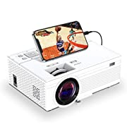 #LightningDeal TOWOND Mini Portable Projector for Movies, Home Theater Video Projector with 6500Lux, 1080P and 200 inch Display Supported, Compatible with iPhone/PS5/TV Sticks/HDMI/Laptop/Xbox