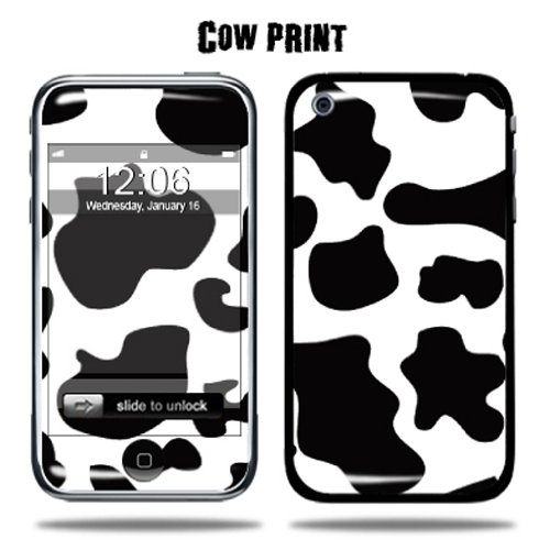 MightySkins Protective Vinyl Skin Decal Cover for Apple iPhone 3G/3GS 8GB 16GB 32GB Cell Phone wrap sticker skins - Cow Print