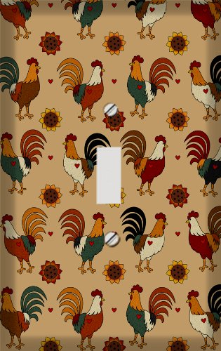 Rooster Collage Switchplate - Switch Plate Cover (Switchplate Rooster)