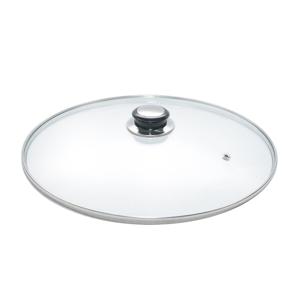 Glass Lids Saucepan Wok Casserole Frying Pan Lid 20 22 24 26 28 30 32 34 36 cm (20) Kitchen