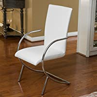 Rockville White Leather Chairs (Set of 2)