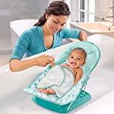Summer Deluxe Baby Bather with Warming Wings, Green Triangle