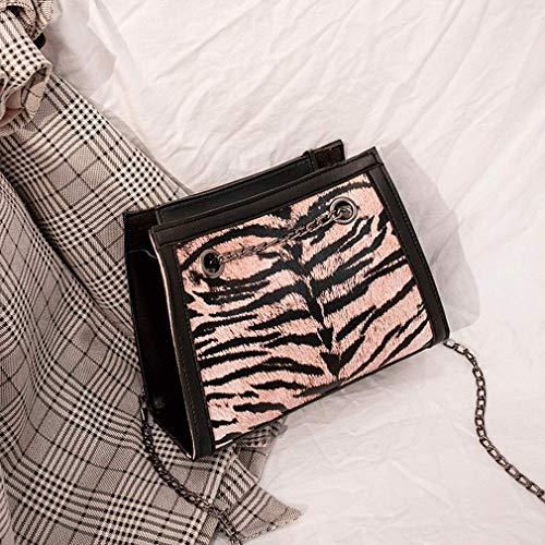 Borsa Signore Angoter Modello Piazza Le Totes Piccola Della Tracolla Catena Tigre Per Donne A Rosa Sacchetto Del Femmina 5IaxnwqrRa