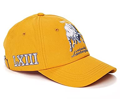 Lamborghini Bull LXIII Cap Amber Gold  Amazon.co.uk  Clothing 7cb2072e6e23