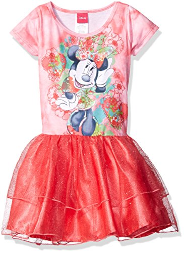 Disney Little Girls' Minnie Mouse Tutu Dress, Coral Shell, S6/6X (Funny But Cute Girl Halloween Costumes)